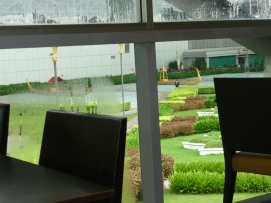 Bankong Havaalanı dış bahçe